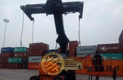 比利时JLG二手高空作业车进口手续,旧设备国际物流到南京